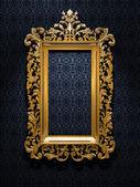 ретро золотая рамка — Стоковое фото