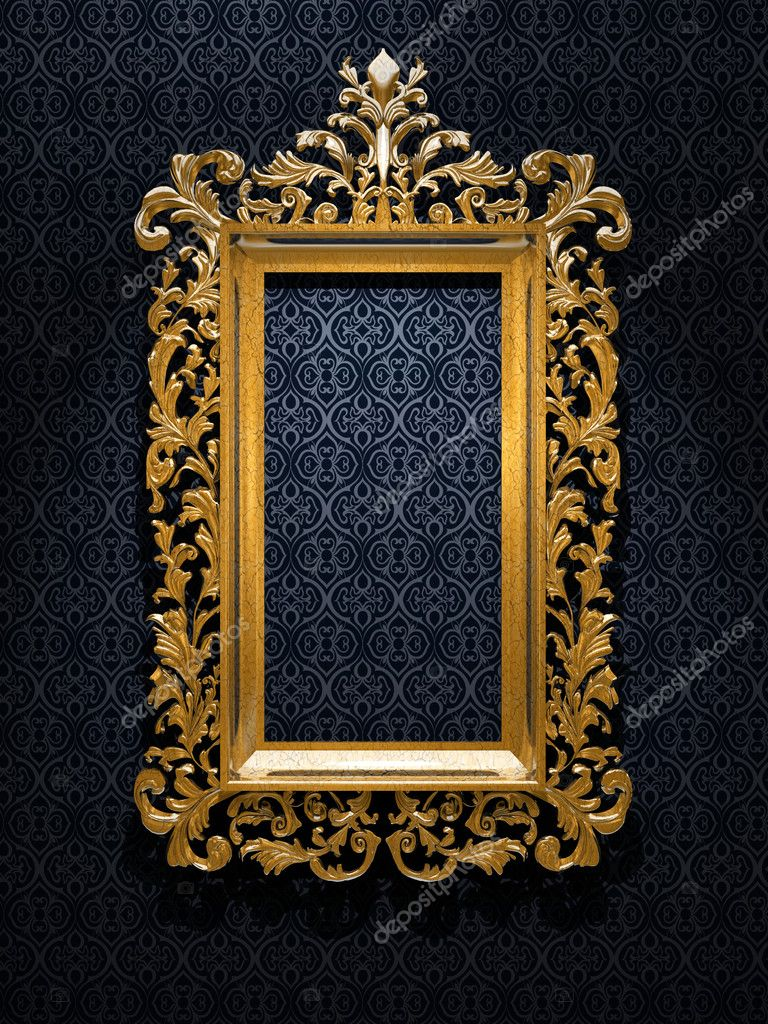 Retro Revival Old Gold Frame — Foto de Stock   #1848611
