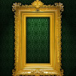 marco antiguo dorado — Foto de Stock