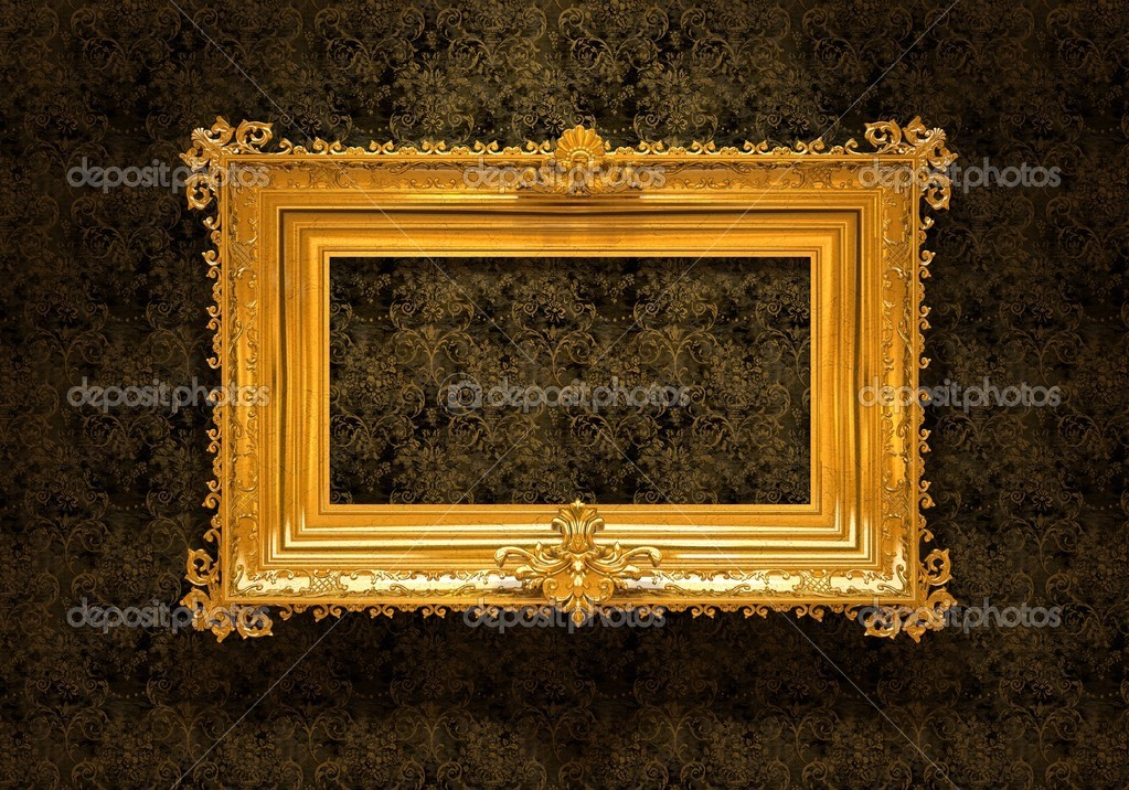 Retro Revival Old Gold Frame — Stock Photo #2253912
