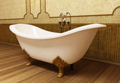 Beautiful retro bathroom — Stockfoto
