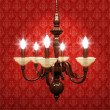 Old-fashioned chandelier — Stock Photo