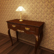 Old antique table — Stock Photo