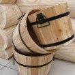 Stock Photo: Wood pails