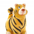 Tiger statuette on white — Stock Photo