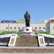 Stock Photo: Monument of Marshal Jukov.Omsk.Russia.