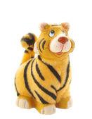 Tiger statuette on white — Stock Photo