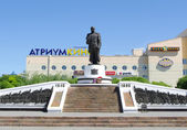 Monument of Marshal Jukov.Omsk.Russia. — Stock Photo