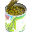 Canned green peas — Stock Photo #2023796