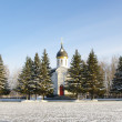 Постер, плакат: Winter view with chapel