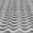 Stock Photo: Black and white phot of tile roof