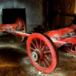 Broken Red wagon — Stock Photo
