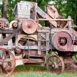 Old Wooden Farming Machine - Stock Photo