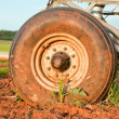 Pivot irrigation wheel — Stock Photo