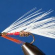 Closeup of a trout fly — Stock Photo
