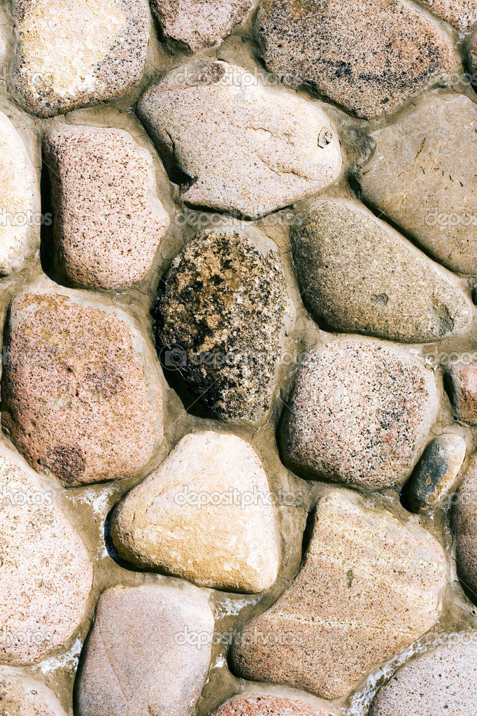 Wall from a cobble-stone, close up.  — Stock Photo #1847162