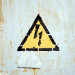 Stock Photo: High Voltage Symbol