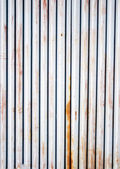 An Old Corrugated Iron Fence — Stock Photo