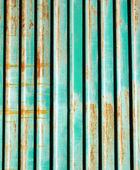 A Rusty Corrugated Iron Fence — Stockfoto