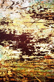 Plate of metal rusty on all background — Stock Photo