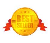 Bestseller-medaille — Stockvektor
