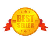 Medalla de best seller — Vector de stock