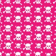 Skull pattern — Stockvektor