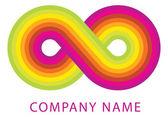 Infinity symbol — Vettoriale Stock