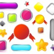 Vector de stock : Set of colorful buttons