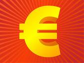 Symbole de l'euro or — Vecteur