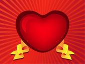 Gothic red heart — Stock Vector