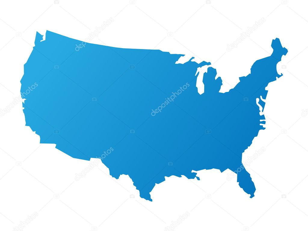 Map of the usa on white  Stock Vector #1829772