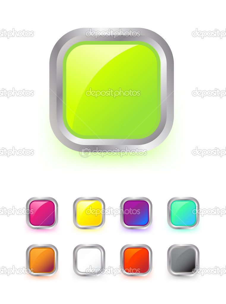 Set of colorful buttons on white — Stock Vector #1829939
