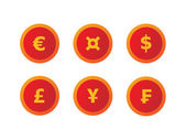 Currency signs — Stock Vector