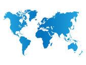 Kaart van de wereld. — Stockvector
