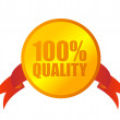 Stock Vector: 100% quality medal