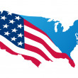 Map of the usa - Stock Vector