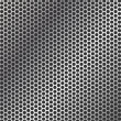Perforated metal background — Stock Vector