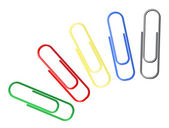 Colorful paperclips — Stok Vektör