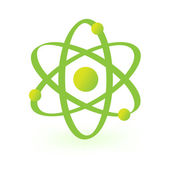Symbol of atomic technology — Stock Vector