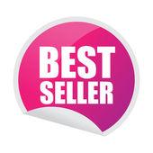 Bestseller klistermärke — Stockvektor