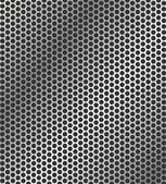 Perforated metal background — Vettoriale Stock