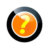 Question button — Stock Vector