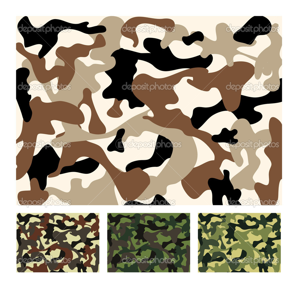 Vector camouflage - 4 colours  Stock Vector #1859674