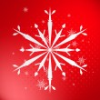 Snowflake on red background — Stock Vector #1916237