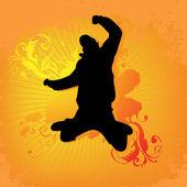 Jumping man — Stock Vector