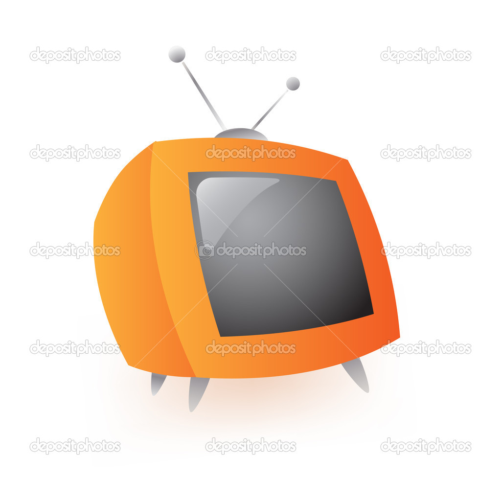 Retro tv on white background — Stock Vector #1914546