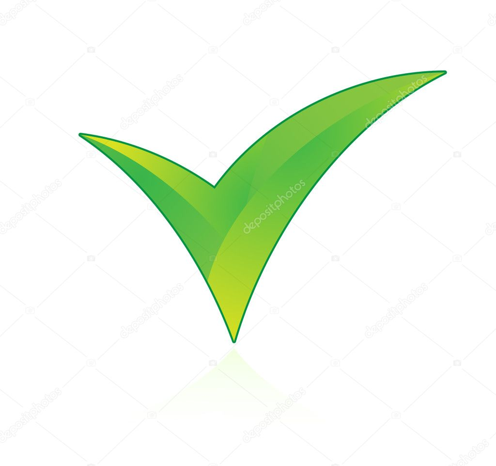 Check mark on white background — Image vectorielle #1914745
