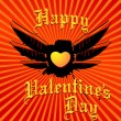 Valentine's day greeting card — Imagen vectorial