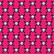 Pink skull pattern - Stock Vector